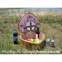 供应柳编野餐篮 柳编餐篮 野餐篮玉米皮编织野炊篮子旅游用品篮子