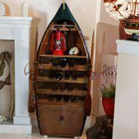 1.4米酒厅装饰木船 精品木质船型酒柜 客厅景观装饰船 厂家直销