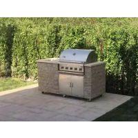 Mr.Tong花园生活A315S-CM-B小巧玲珑的抛光天然石材不锈钢别墅户外烧烤台