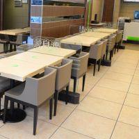 【优惠促销】龙华宝安茶餐厅桌椅咖啡厅板式桌子快餐厅四人位餐桌定制 运达来家具