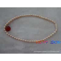 天然珍珠项链  天然珍珠 粉珍珠项链 珍珠项饰 珍珠勃链
