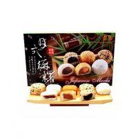 江浙沪皖3箱免邮 台湾皇族麻糬麻薯综合口味450克/盒 一箱12盒