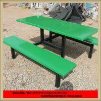 广州学校食堂餐桌椅订购 6人条凳餐桌椅批发 员工饭堂专用玻璃钢餐桌