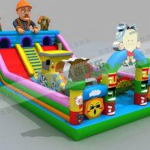 儿童气垫蹦床节假日摆摊***挣钱,充气大型城堡厂家