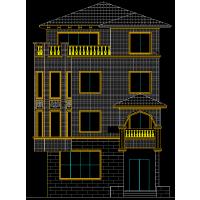 精美欧式砖混三层别墅设计图8.3x11.8米