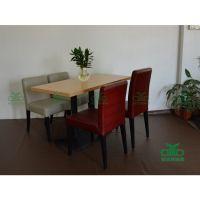 佛山厂家定制公司 食堂茶餐厅桌椅 防火板四人餐桌椅组合物美价廉