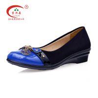 老北京布鞋,京洪森正品聚氨底保健透气平底低帮时装女鞋一件代发