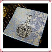 红木办公桌锦案 红木家具杯垫 有品位有文化的丝绸鼠标垫 元青花