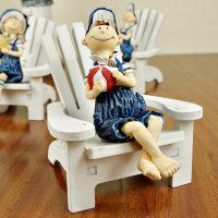 沙滩椅娃娃,夏威夷地中海摆饰,拍照道具桌面装饰礼品