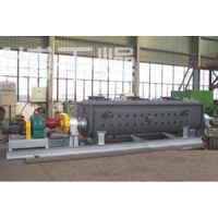 发酵污泥双桨叶干化机工艺概述KJG-150常州优博干燥供应商