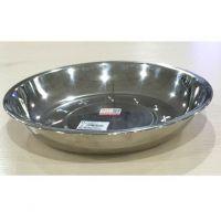 华格莱加厚不锈钢圆盘深盘菜盘果盘子菜盘餐具