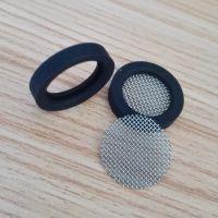 YF0910橡胶过滤网片4分优质硅胶包边滤网304不锈钢40目