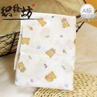 织绘坊限时促销双层小熊印花纱布 医用级母婴用平纹柔软棉坯布