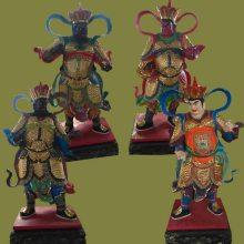 河南云峰佛像雕塑厂订做树脂贴金神像 四大天王佛像2.6米