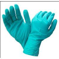 正品霍尼韦尔LA102G 绿色无衬耐油防化防污清洁橡胶劳保手套