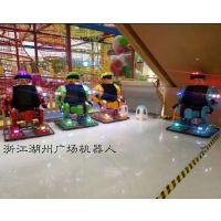 山东驰胜供应广场行走机器人/金刚侠机器人/儿童电瓶机器人厂家广场双人碰碰车