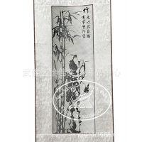 竹编梅兰竹菊卷轴  瓷胎竹编工艺品  成都特产 春节礼品批发团购
