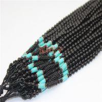 转运绿松石+玛瑙项链绳挂件 DIY手工编织 欧版 饰品配件 现货批发