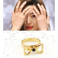 EB韩国来自星星的你女主角同款蝴蝶结镶钻戒指热卖