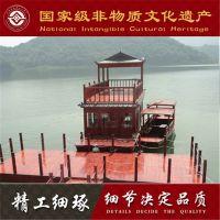 12米电动画舫木船 木船厂家生产定制休闲画舫客船
