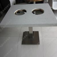 厂家直销火锅城餐桌 双人不锈钢简约烧烤火锅一体桌免费拿样