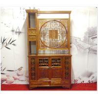 艺品轩木雕 实木家具门厅玄关柜 中式古典仿古隔断 双面雕刻