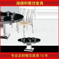 热卖 大理石火锅桌 餐桌 一人一锅火锅桌 小肥羊 海底捞餐厅定做