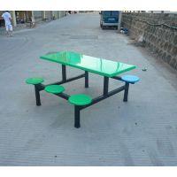 厂家直销食堂靠背餐桌椅 休闲时尚餐桌 玻璃钢餐厅餐桌 组合餐桌