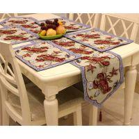 新品特价外贸原单美式乡村桌旗餐垫欧式田园杯垫桌布桌巾