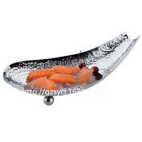 不锈钢刺身盘寿司盆料理盘海鲜盘生鱼桶 寿司盘子餐具