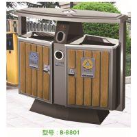 廊坊厂家4月推出新款钢木垃圾桶