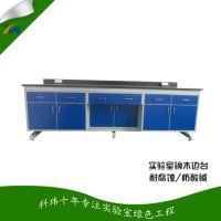 广州科玮厂家直销实验台 实验室家具 钢木实验边台