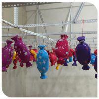 橱窗美陈装饰六一儿童节布置玻璃钢糖果道具