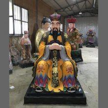 河南云峰佛像雕塑厂订做 玉皇大帝王母娘娘 树脂彩绘神像佛像