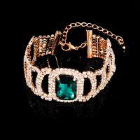手链饰品 欧美大牌风格 纯手工爪镶多面锆石女款手镯 速卖通热卖