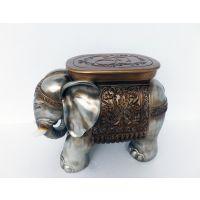 树脂工艺品新中式欧式美式家具饰品装饰摆设门厅大象座凳换鞋凳
