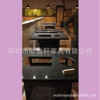 自销韩式无烟烧烤桌 大理石火锅桌 连锁店人造石电磁炉餐桌子厂