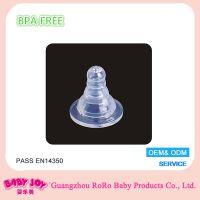 厂家供应标准口径 婴乐美全液态食品级硅胶奶嘴 母乳实感婴儿喂奶奶嘴 适配各式标口奶瓶