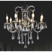 CVMA厂家直销 6028C-8A现代简约欧式玻璃蜡烛白炽灯水晶吊灯客厅大气餐厅灯复式楼卧室