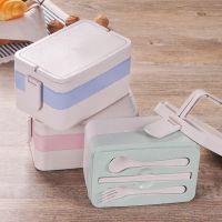 小麦秸秆饭盒 日式餐具便当盒微波炉学生多层餐盒寿司盒