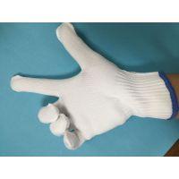 加厚白色尼龙劳保手套 防尘耐磨防护手套 尼龙安全工作手套
