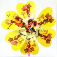 厂家直销塑料纸风车儿童玩具益智卡通喜洋洋熊出没图案地摊热卖