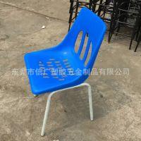 供应标准尺寸22管铁脚塑胶靠背椅 钢塑靠背椅 有空加高塑料靠背椅