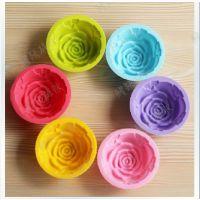 圣诞礼物手工皂硅胶模具玫瑰花皂模香皂皂模 巧克力食品模具