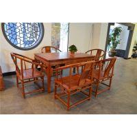 缅甸花梨茶桌-红木茶桌供应-东阳古典中式茶台-雅典红木茶台价格