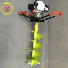 能钻冰面用冰钻 润丰 汽油手提式钻坑机 汽油钻冰机器