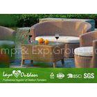 Customized Factory aluminium frame outdoor garden sofa set with coffee table outdoor garden sofa wit