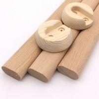 奇晟木艺 大量现货供应 榉木衣柜挂衣杆 规格齐全 可批发定制