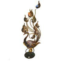 泰国特色铜艺摆件 东南亚家居装饰品 孔雀12烛台