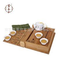 万春和 书香门第 书型茶海 创意茶具套装 老孟宗竹 雅光釉玉脂瓷